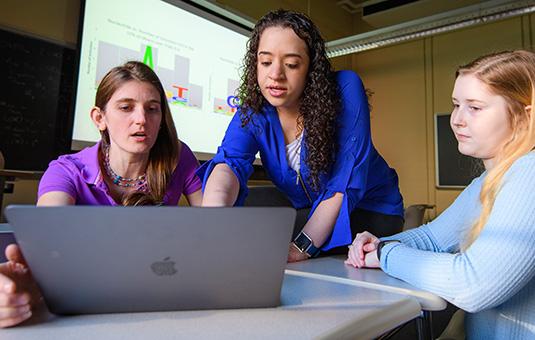 Professor Dresch mentors two students