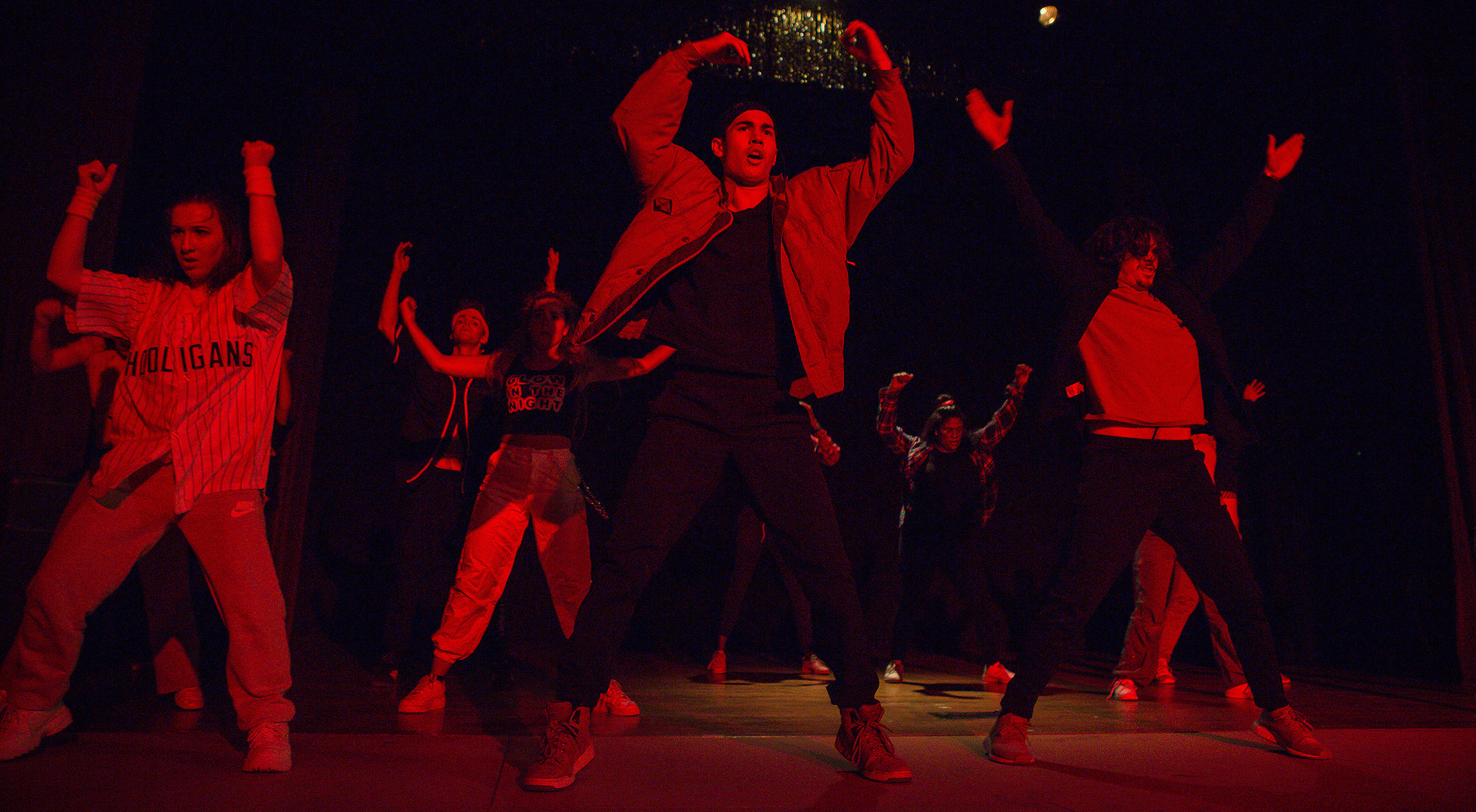 Students dancing as part of Hip-Hop Collabo