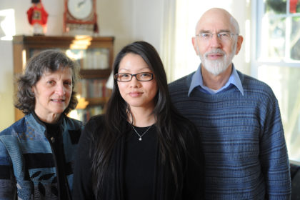 Professor Paul Ropp with his wife Marjorie and daughter Amy