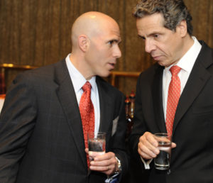 Rechler with New York's Governor Cuomo (right)