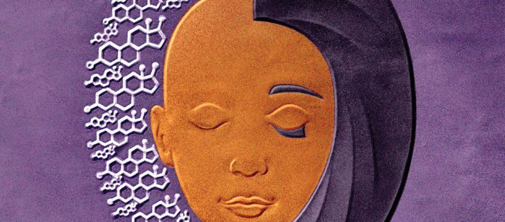 Artwork of person's head