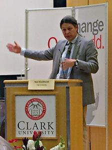 Ned Blackhawk speaks at Clark University