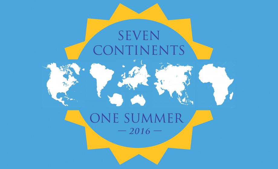 7 Continents, 1 Summer 2016 logo