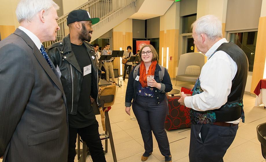 Clark University's Creative Arts Networked Communities event was held Dec. 1