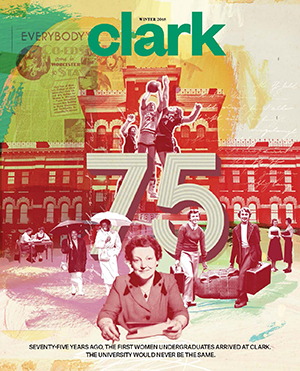 Cover of Clark magazine, winter 2018 issue