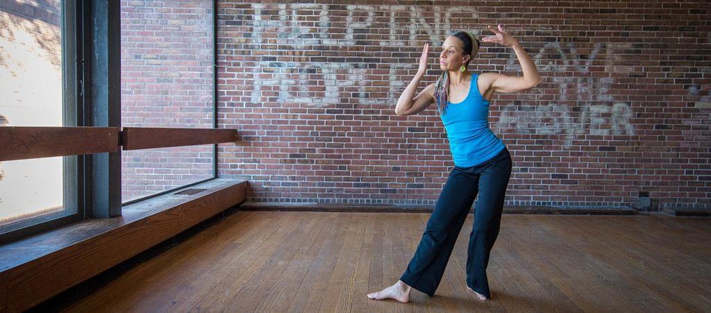 Lynn Frederiksen posing in dance studio