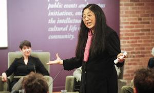SunHee Kim Gertz speaking