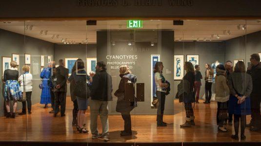 people viewing art in museum