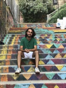 Anthony jreije on steps photo