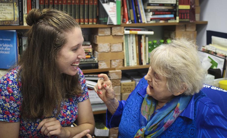 Casey Bush with Eva Kor