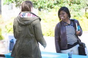 Community survey tabling photo