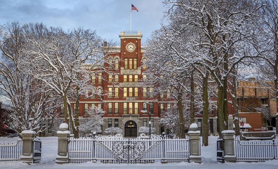 Jonas Clark building in winter