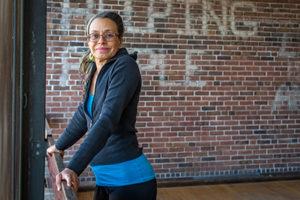 Lynn Frderiksen posing with dance bar