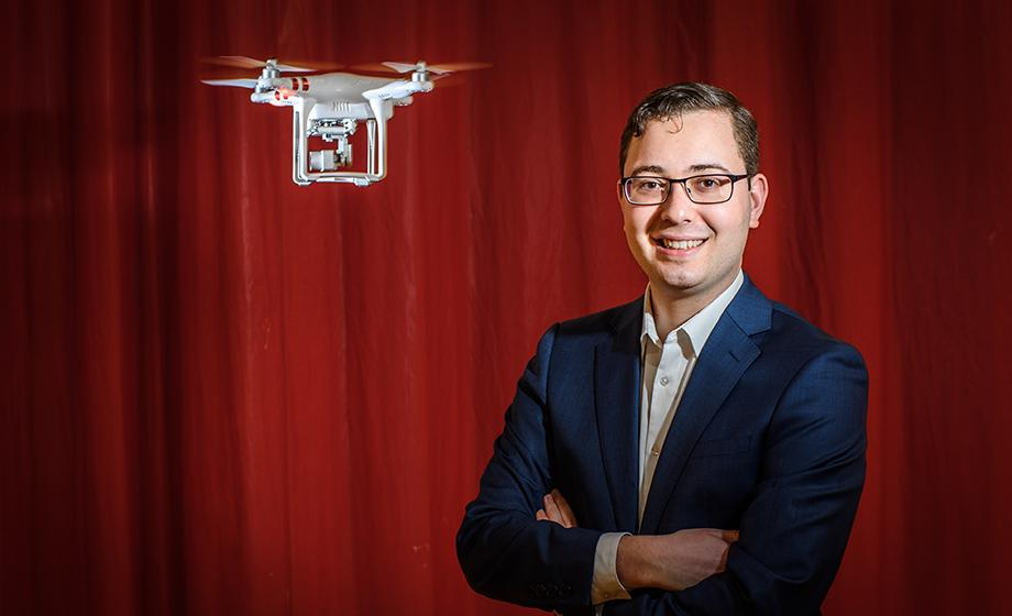Andres Gvirtz with drone