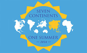 7 continents 1 summer logo