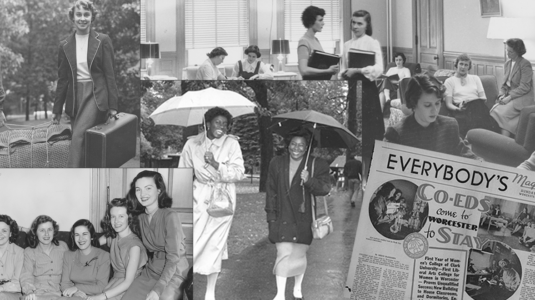 black and white historical photos depicting women in history