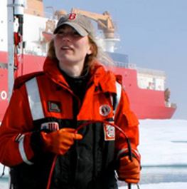 Clark University geography Professor Karen Frey conducts research in the Arctic. (NASA's Goddard Space Flight Center /Kathryn Hansen)
