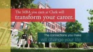 Clark MBA program leaflet