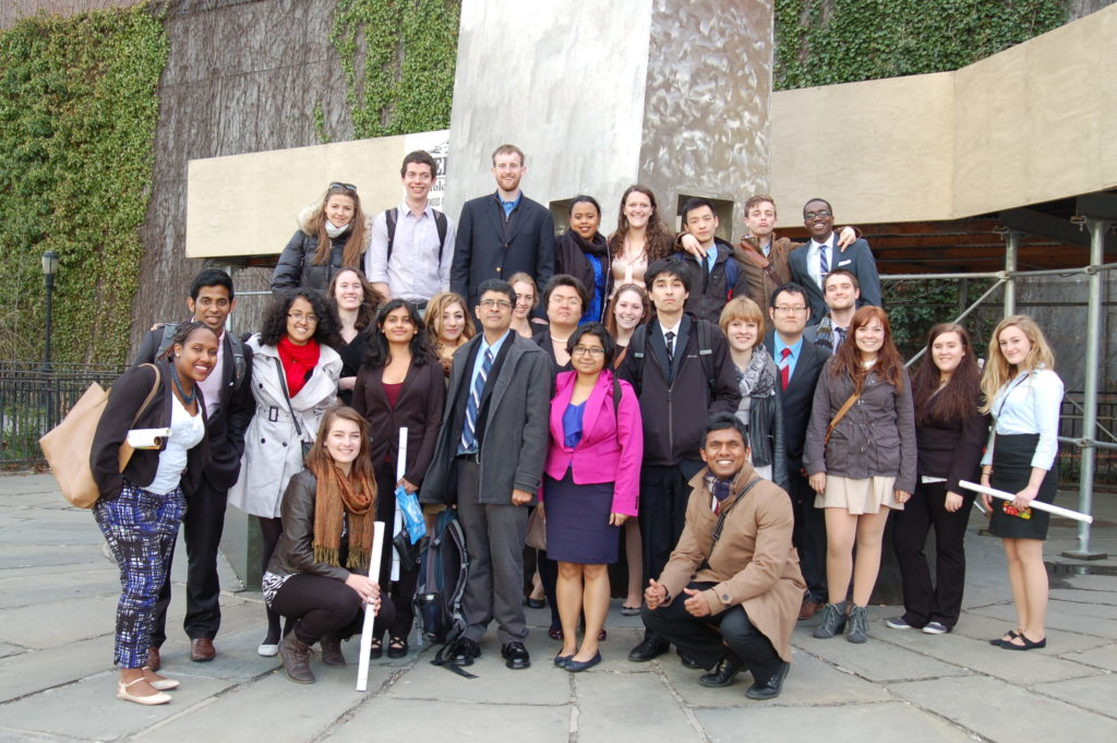 Clark University students, along with Prof. Srini Sitaraman, visited the United Nations on April 17.