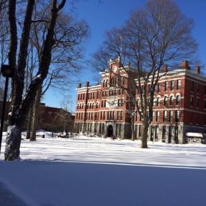 Jonas Clark Hall during winter