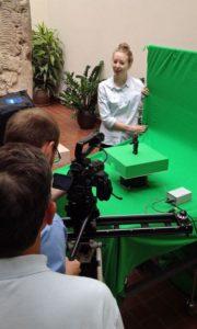 Spak-assists-film-crew-recording-Olmec-sculpture