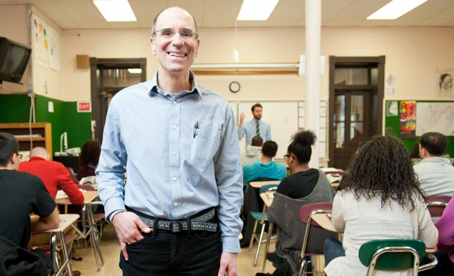 Adam Institute Director Tom Del Prete in a University Park Campus School