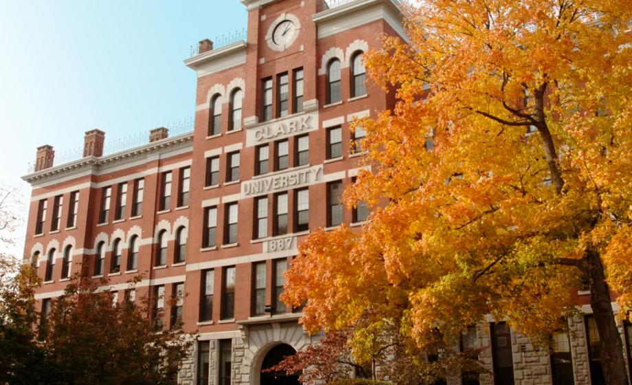 picture of jonas clark building in fall
