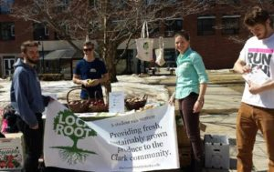 The Local Root gave away 40 apples one afternoon during Earth Week