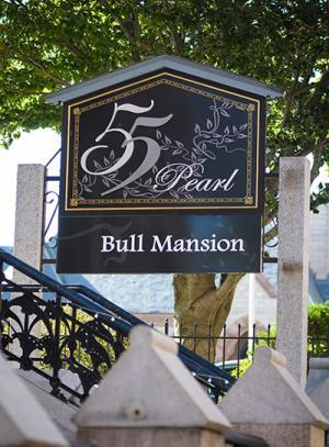Bull Mansion signage