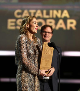 Catalina Escobar receives the CNN Hero award in 2012
