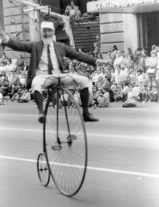 Nunni on a bike photo