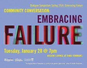 Higgins School of Humanities Spring Dialogue Symposium, Embracing Failure
