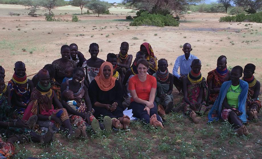 Farida Hassan conducts field work in Turkana County, Kenya