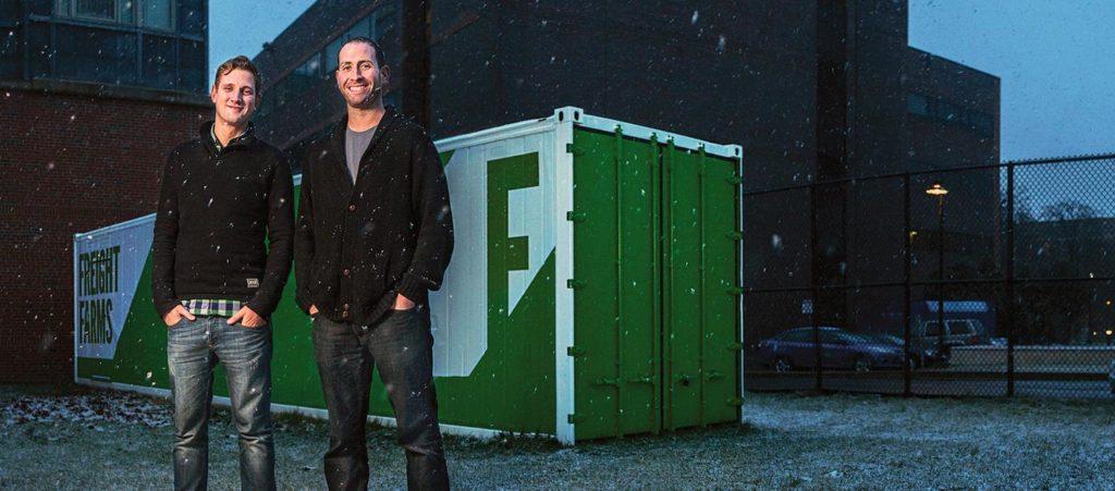 Freight Farms founder Brad McNamara with business partner Jon Friedman