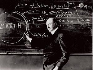Goddard at blackboard at Clark