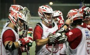 Jacob Reiner and his lacrosse teammates