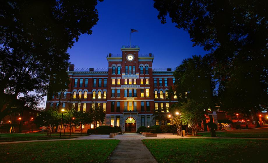 night shot of building