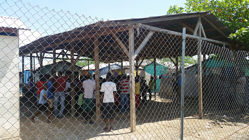 A refugee camp in Haiti