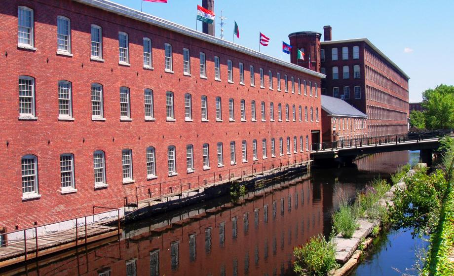 Lowell: The Boott Mill complex now converted to a museum.