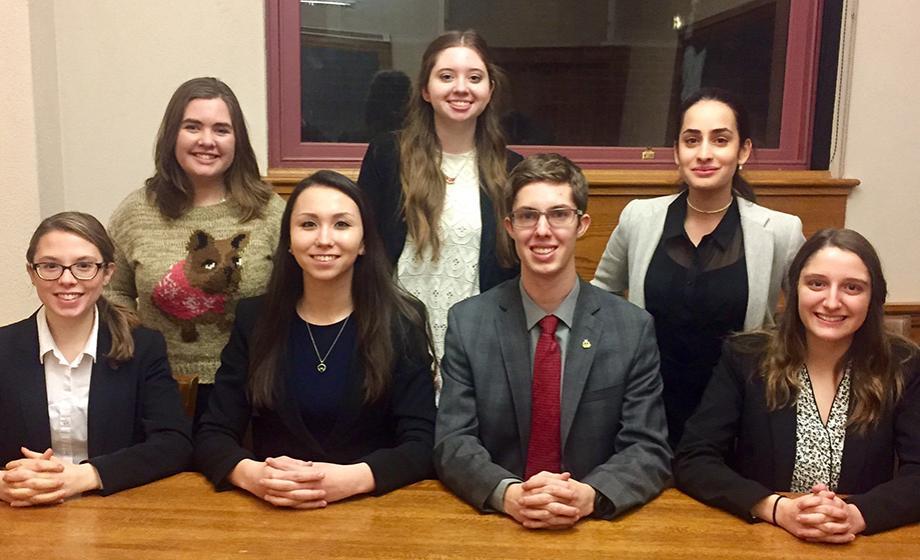 Clark University Mock trial group