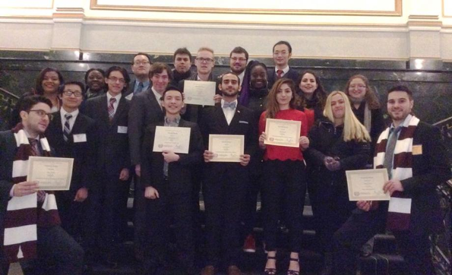 Clark's MUN team at the Harvard National Model United Nations Conference in February 2016.