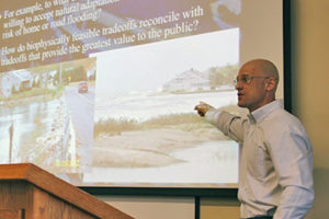 Rob Johnston coastal talk at Clark University