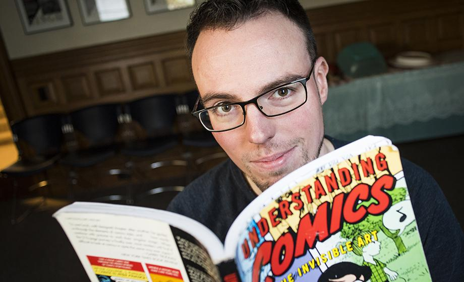 Sebastian Winslow reading comic book