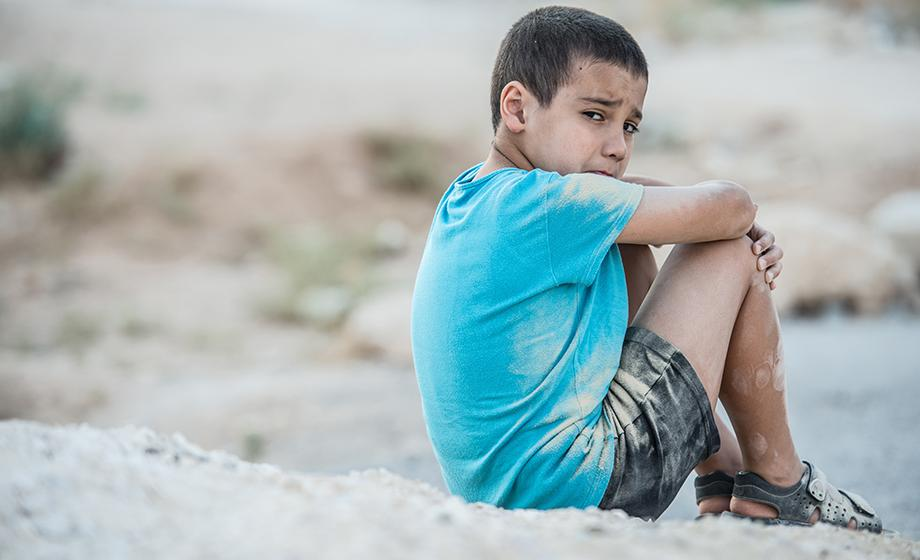 small child on the beach