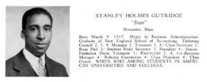 Stanley Gutridge's senior yearbook entry, from 1945.