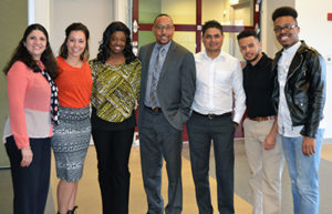 Clark students meeting Worcester City Councilor Khrystian King
