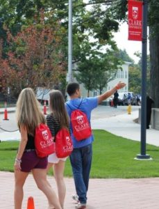 students passing atwood photo