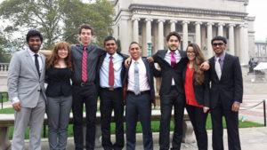 Clark Model U.N. participants at the Columbia University Model United Nations in New York conference included Yohan Senarath '14, Corie Welch '17, Patrick Burchat '15, Dulara de Alwis '14, Migel A. Lara '15, Doga Bilgin '16, Mariale Poleo '15, and Themal Ellawala '13.