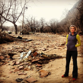 Rebecca Louzan '08 is one of those leading the recovery efforts in Lyons, Colo., which was devastated by flooding in September.