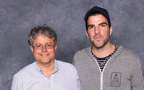 "Sandy Fries and Zachary Quinto, who plays Spock in the latest ""Star Trek"" films."